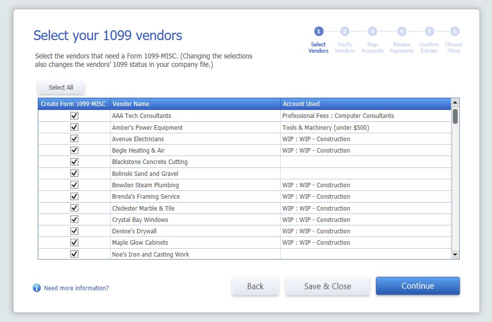 1099 review vendors