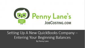 Setting Up QuickBooks Desktop: Your Beginning Balances