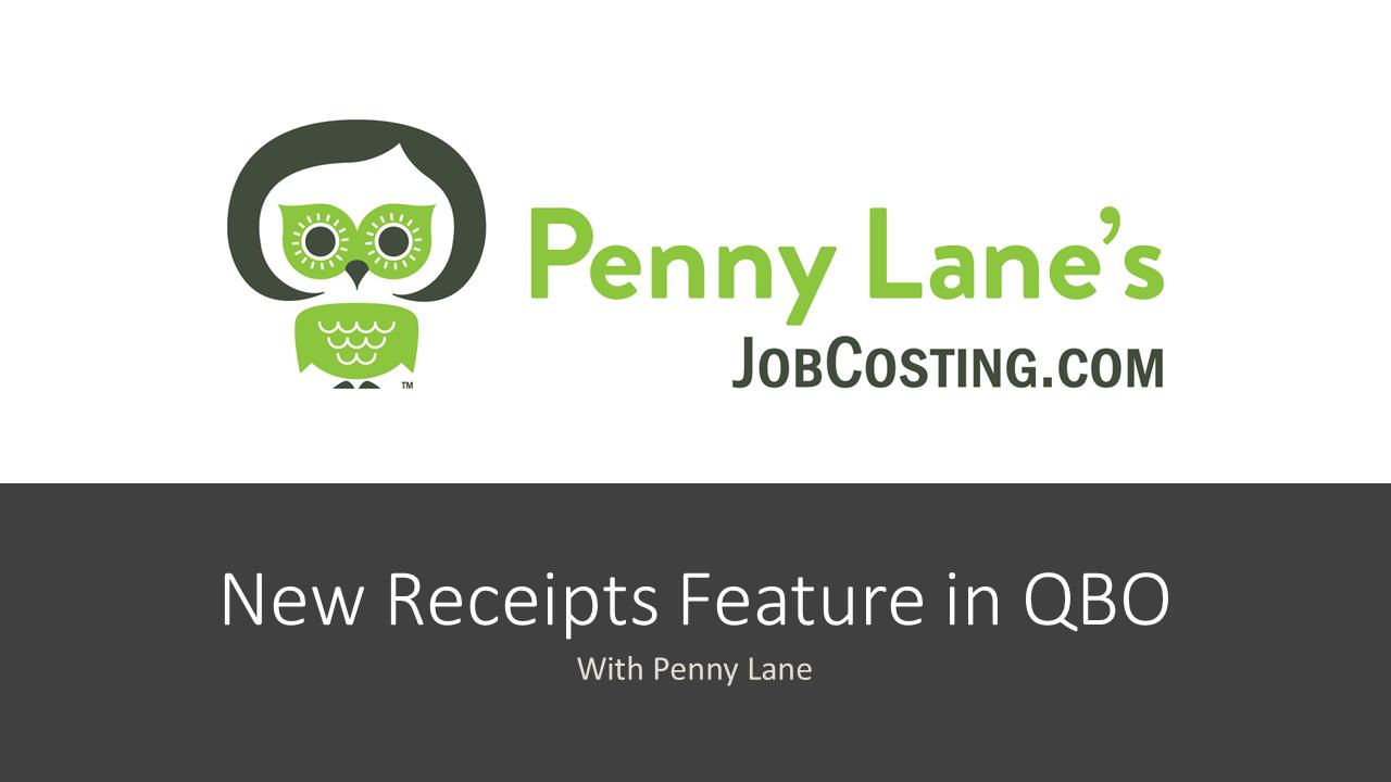 New Receipts Feature in QuickBooks Online August 2019